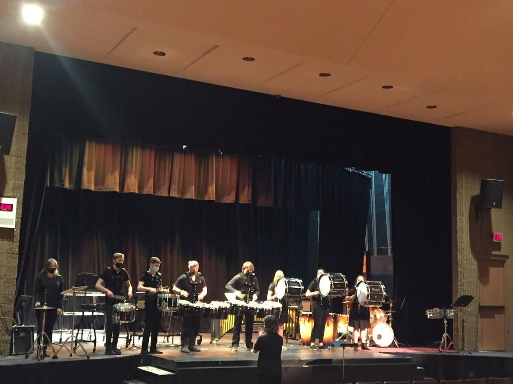 Our drum line and percussion groups did an amazing job!